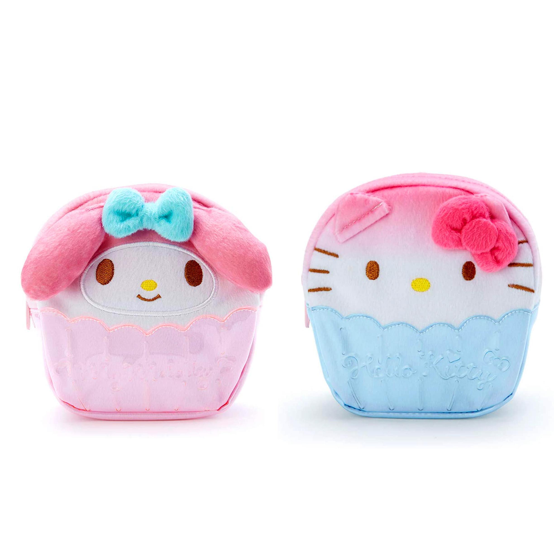 造型絨毛防水化妝包-凱蒂貓 美樂蒂 KITTY My Melody三麗鷗 Sanrio  日本進口