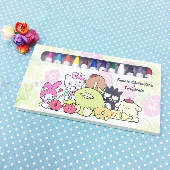 12色蠟筆 三麗鷗 tori&綜合 附盒蠟筆 正版授權