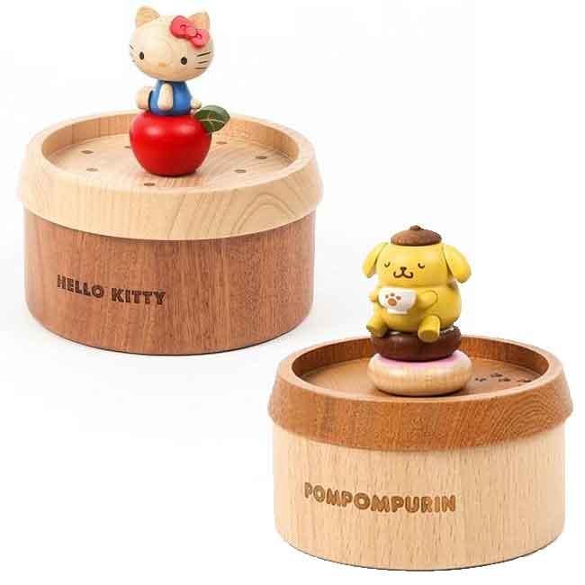 木製收納盒 三麗鷗 KITTY 布丁狗 木收納盒 正版授權