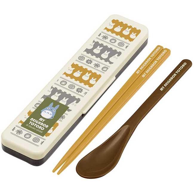 湯筷餐具組 日本 宮崎駿 吉卜力 豆豆龍 龍貓 TOTORO SKATER 湯筷附盒 日本進口正版授權