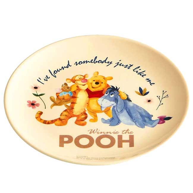 圓形美耐皿盤 Disney 小熊維尼 POOH Skater 圓盤 日本進口正版授權