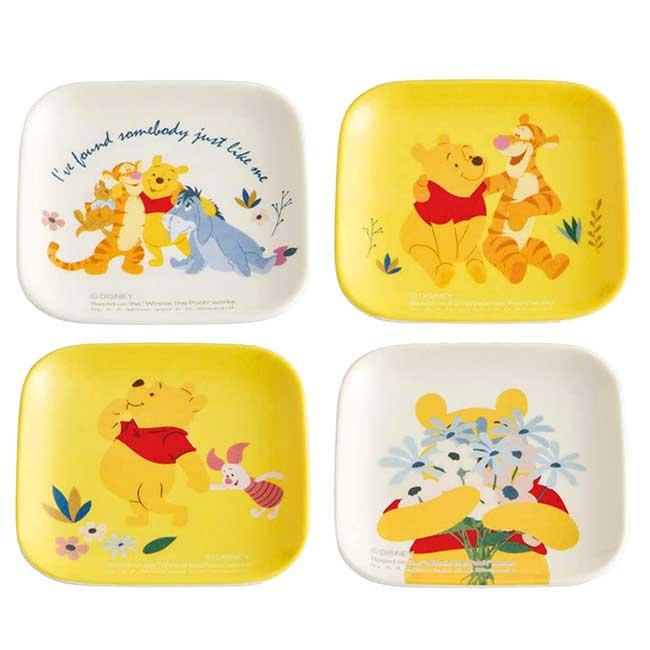 迷你方形美耐皿碟子 迪士尼 維尼 POOH Skater 小菜盤 日本進口正版授權