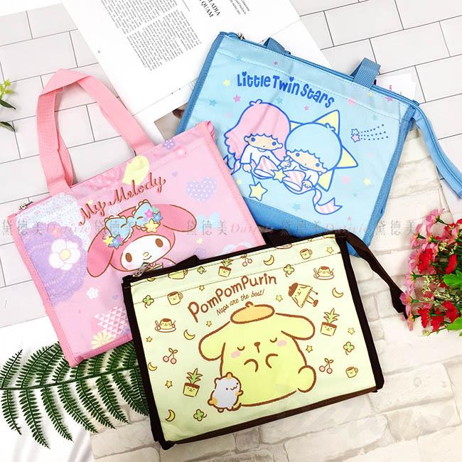 方形保溫保冷提袋 三麗鷗 Sanio 雙子星 美樂蒂 布丁狗 共3款 便當袋 手提袋 野餐袋 正版授權