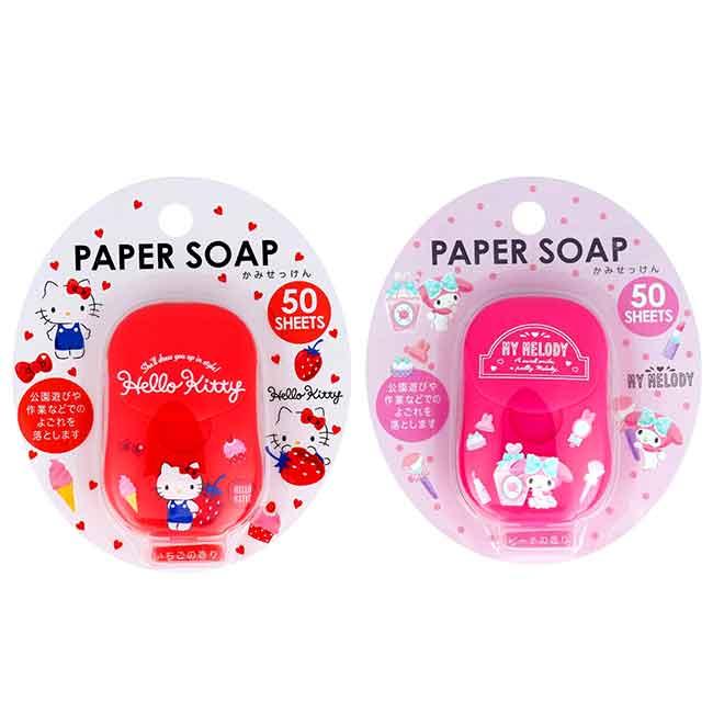 紙香皂 三麗鷗 HELLO KITTY 凱蒂貓 美樂蒂 盒裝紙香皂 日本進口正版授權
