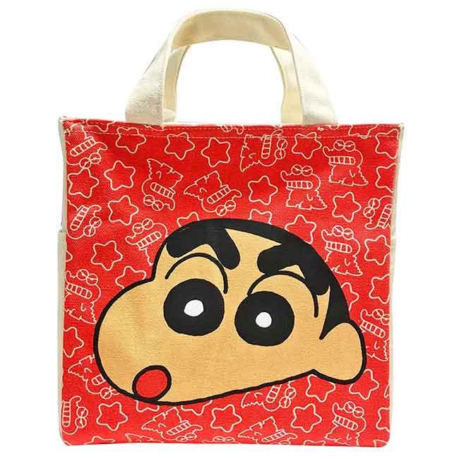 方形帆布保冷提袋 蠟筆小新 クレヨンしんちゃん 保冷提包 日本進口正版授權