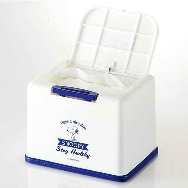 方形塑膠按壓彈蓋面紙盒 史努比 SNOOPY 衛生紙盒 日本進口正版授權