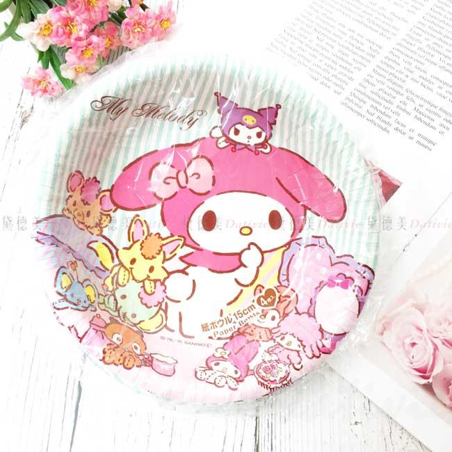 免洗紙碗 三麗鷗 美樂蒂 My Melody Paper Bowls 免洗碗 日本進口正版授權