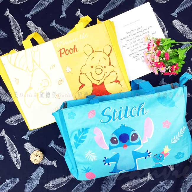 大托特包 迪士尼 史迪奇 小熊維尼 STITCH Pooh 大容量包包 正版授權