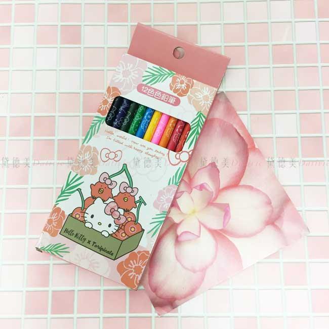 12色色鉛筆 三麗鷗 tori&KT 凱蒂貓 盒裝色鉛筆 正版授權