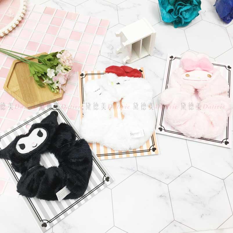 造型髮圈 三麗鷗 KITTY 美樂蒂 酷洛米 大腸圈 日本進口正版授權
