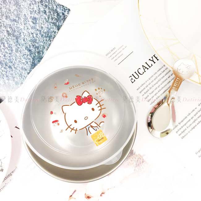 不鏽鋼環保碗附湯匙 三麗鷗 Sanrio 凱蒂貓 KT 湯碗 正版授權