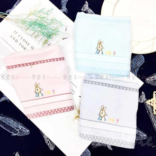 緹緞精繡童巾 彼得兔 Peter Rabbit 純棉毛巾 正版授權