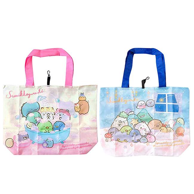 折疊收納環保袋 SAN-X 角落生物 粉色 藍色 2款 購物袋 手提袋 日本進口正版授權