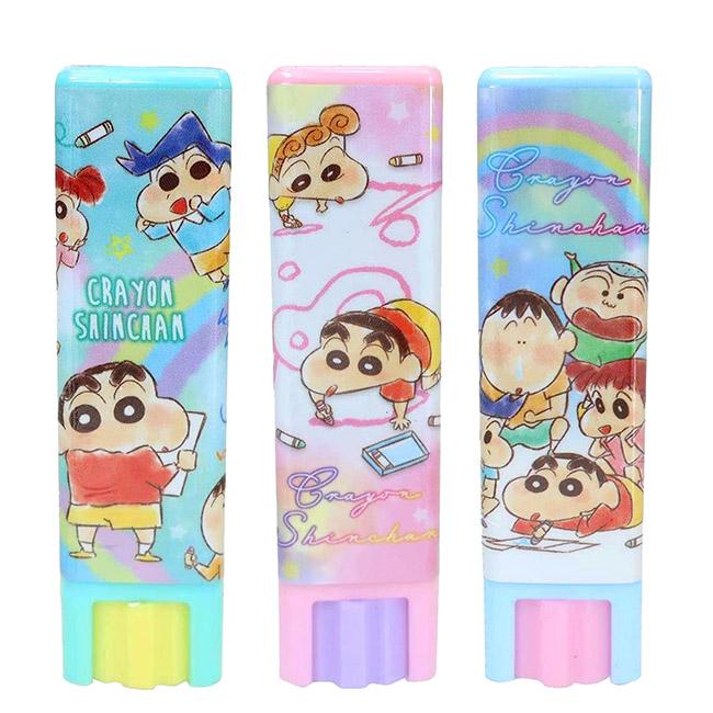 口紅膠 蠟筆小新 彩繪風 塗鴉風 漸層風 3款 8g 黏膠 黏貼用品 日本進口正版授權