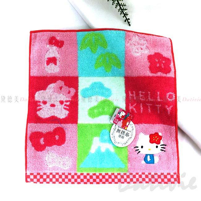 無撚紗純棉方巾 三麗鷗 Hello Kitty 吸水 速乾 毛巾 日本進口正版授權