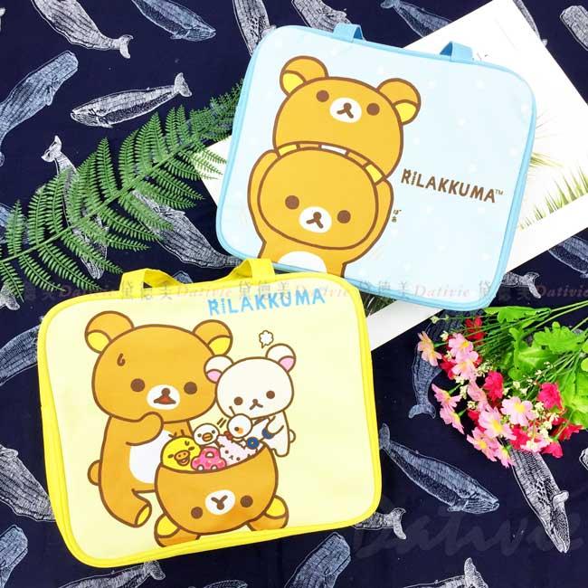 方形手提便當袋 SAN-X 拉拉熊 Rilakkuma 懶懶熊 手提袋 正版授權