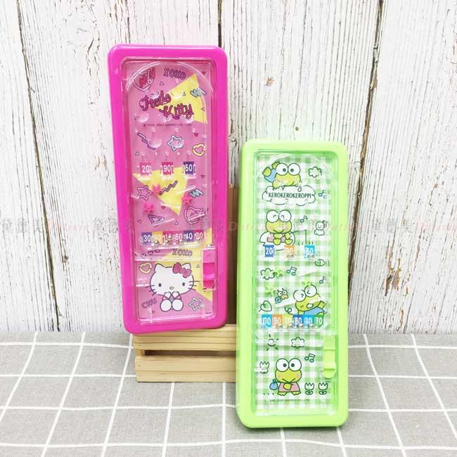 彈珠檯筆盒 三麗鷗 KITTY 大眼蛙 鉛筆盒 正版授權