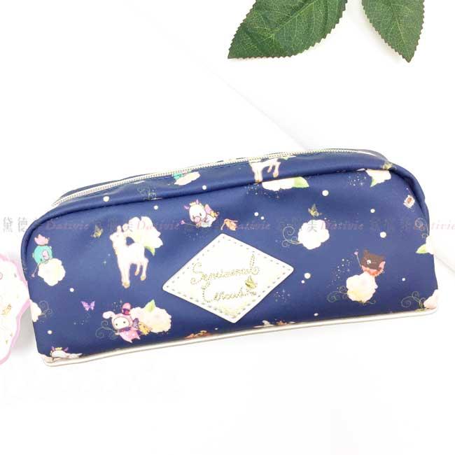 筆袋 SAN-X 憂傷馬戲團 月色子鹿與真夜中馬戲團 拉鍊筆袋 日本進口正版授權