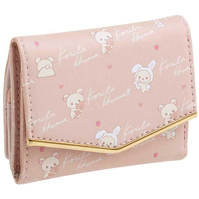 皮質扣式短夾 san-x 懶懶熊 牛奶熊仿兔 拉拉熊 Rilakkuma 皮夾 日本進口正版授權
