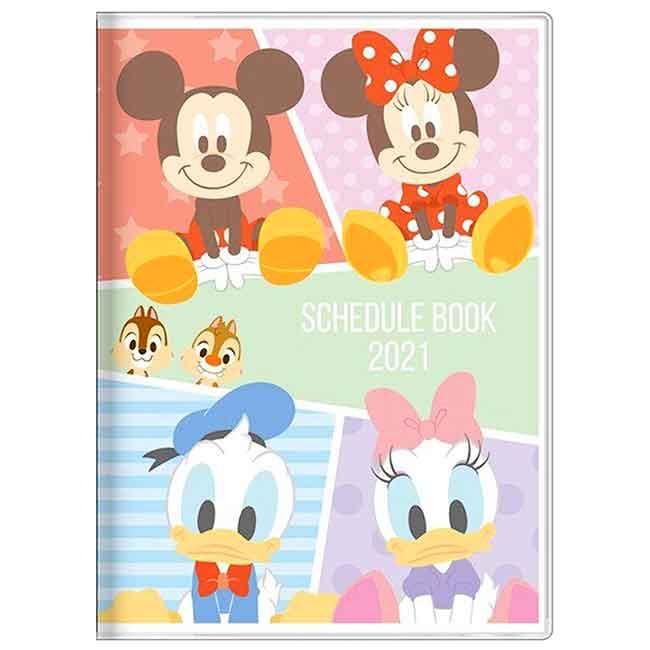 2021月間手帳 日本 A6-米奇家族 米奇 米妮 唐老鴨 SUN-STAR 行事曆 日本進口正版授權