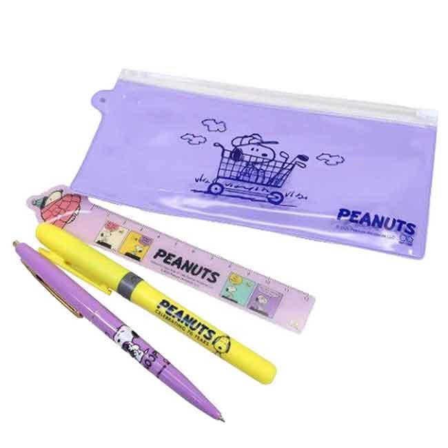 三件式文具組 史努比 70週年 SNOOPY PEANUTS 筆尺袋組 日本進口正版授權