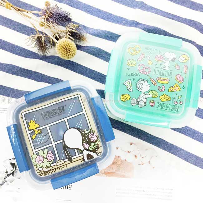 瀝水籃保鮮盒 史努比 SNOOPY PEANUTS 蔬果盒 正版授權
