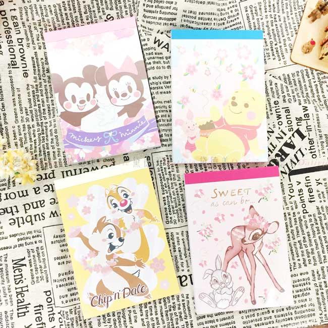 萬用便條本 迪士尼 米奇米妮 奇奇蒂蒂 小熊維尼 小鹿斑比 memo本 正版授權