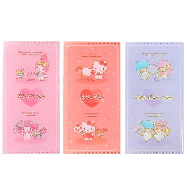 折疊式票夾 日本 三麗鷗 凱蒂貓 雙子星 美樂蒂 收納卡夾 日本進口正版授權