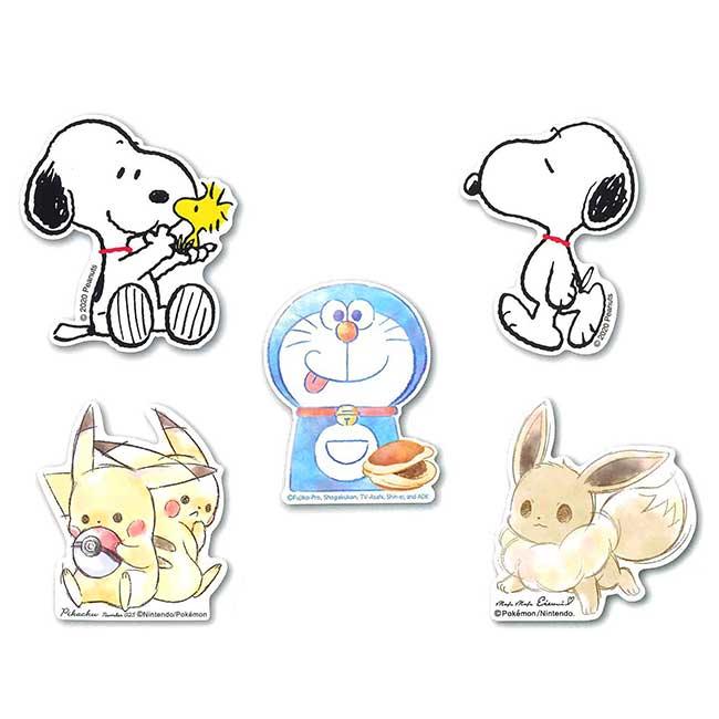 裝飾貼紙-防水耐光 三麗鷗 哆啦A夢 史努比 寶可夢 皮卡丘 伊布 造型貼紙 日本進口正版授權