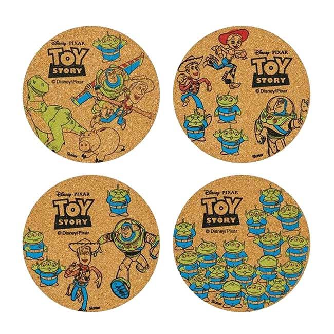 軟木塞杯墊 迪士尼 皮克斯 玩具總動員 四入杯墊 日本進口正版授權