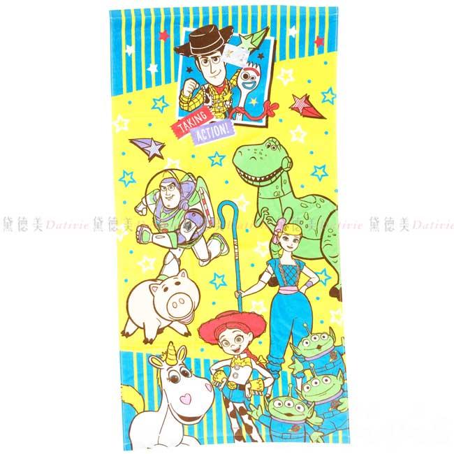 純棉浴巾 迪士尼 玩具總動員 TOY STORY 4 長浴巾 日本進口正版授權