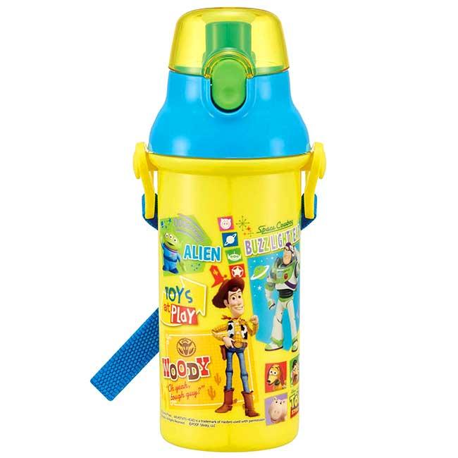 直飲式水壺附背帶 日本 迪士尼 皮克斯 玩具總動員 TOY STORY 背帶水壺 日本進口正版授權