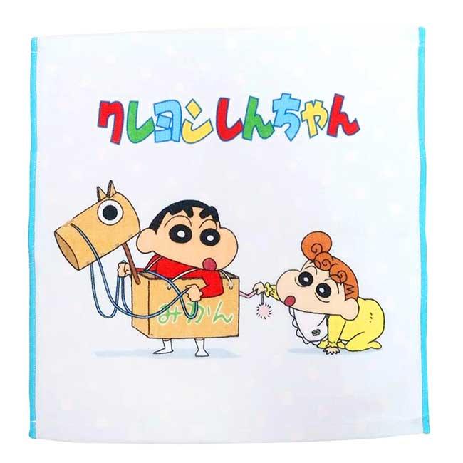 純棉毛巾 蠟筆小新 34x34cm 方巾 日本進口正版授權