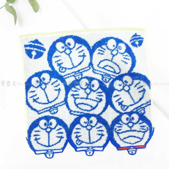 純棉方巾 三麗鷗 哆啦A夢 DORAEMON 純棉小方巾 日本進口正版授權