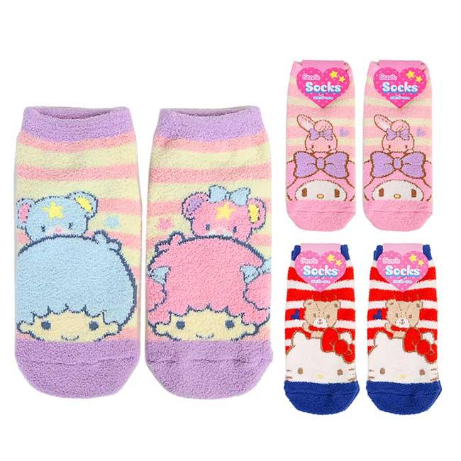 保暖直版襪 韓國 三麗鷗 凱蒂貓 雙子星 美樂蒂 SOCKS 襪子 日本進口正版授權