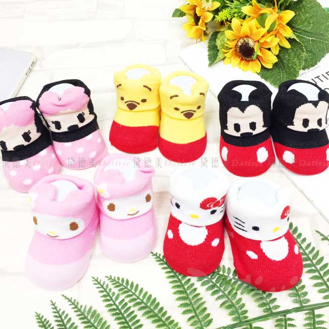 造型寶寶止滑襪 迪士尼 米妮米奇 維尼 KITTY 美樂蒂 學步襪 正版授權
