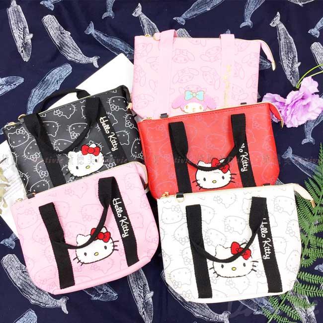 立體刺繡手提包 三麗鷗 Sanrio 凱蒂貓 KITTY 手拿包 正版授權