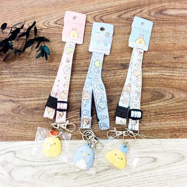 矽膠吊飾多功能頸掛繩 SAN-X 角落生物 炸蝦 企鵝 掛繩吊飾 日本進口正版授權
