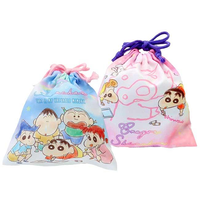 棉質束口袋 蠟筆小新 Crayon Shin Chain 收納袋 日本進口正版授權