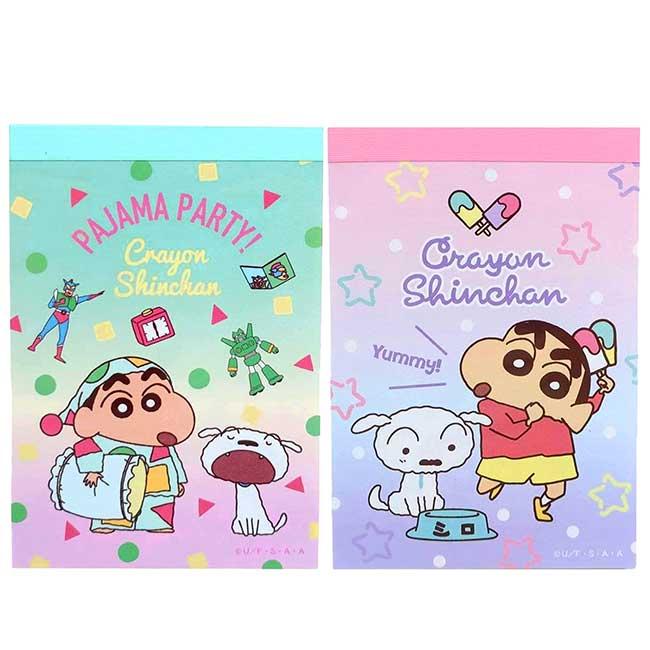 便條本 日本 蠟筆小新 睡衣 星星 クレヨンしんちゃん memo紙 日本進口正版授權