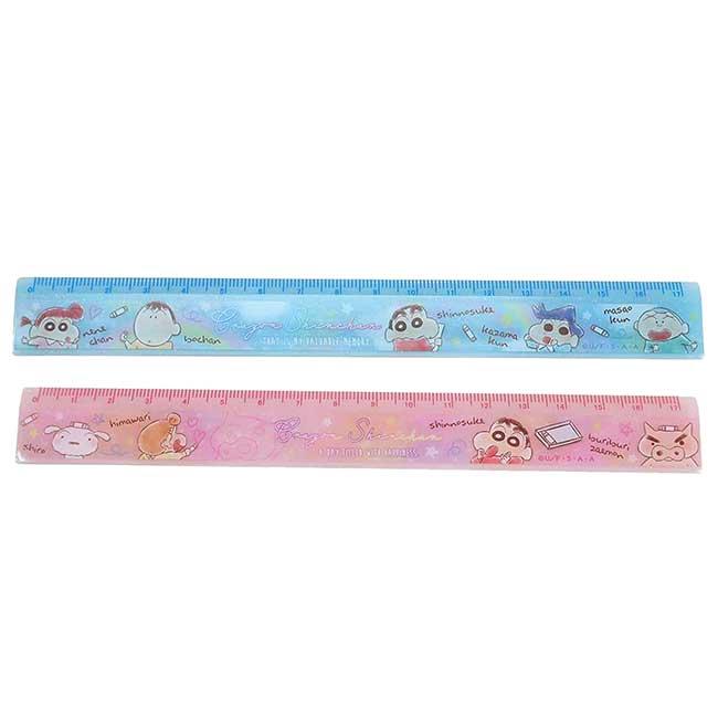 塑膠直尺 蠟筆小新 Crayon Shin Chain クレヨンしんちゃん 17cm尺 日本進口正版授權