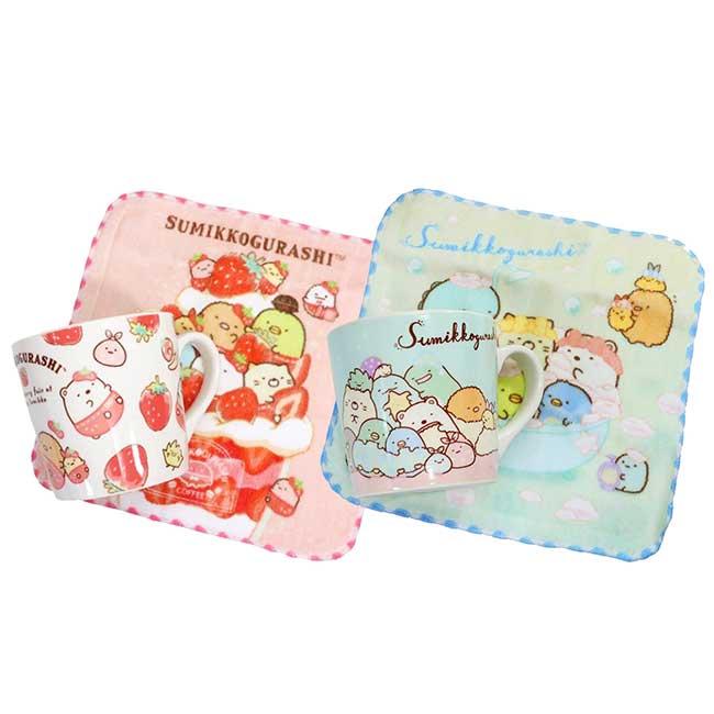 馬克杯附小方巾組 san-x 角落生物 sumikko gurashi 杯巾組 日本進口正版授權