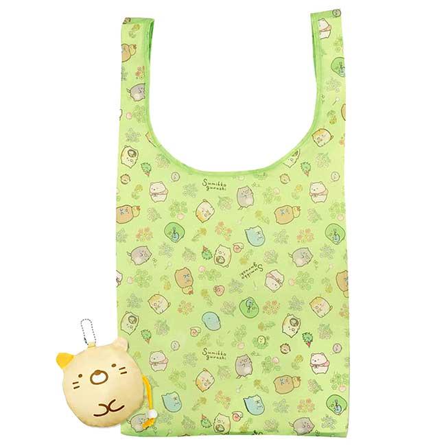 摺疊收納環保袋 san-x 角落生物 sumikko gurashi 貓咪 購物袋 日本進口正版授權