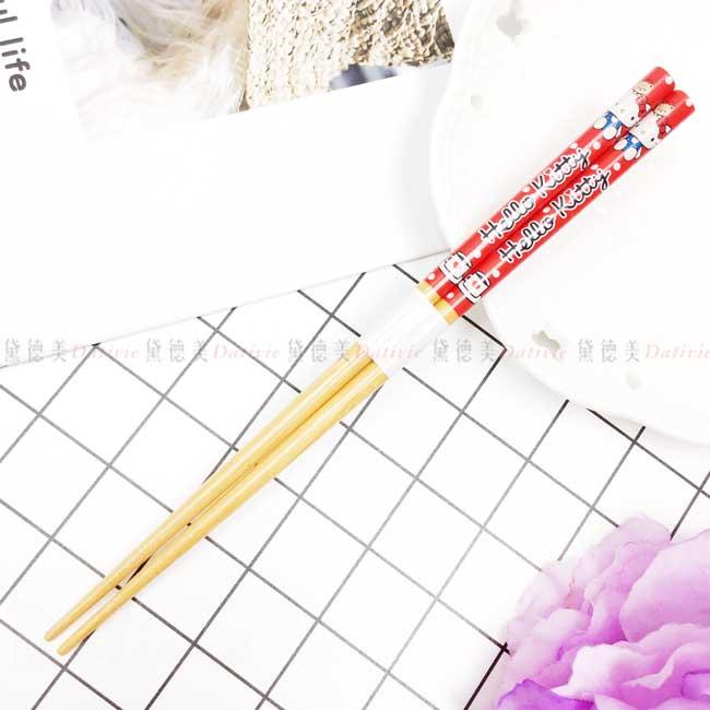 天然竹竹筷 三麗鷗 凱蒂貓 HELLO KITTY 筷子 日本進口正版授權