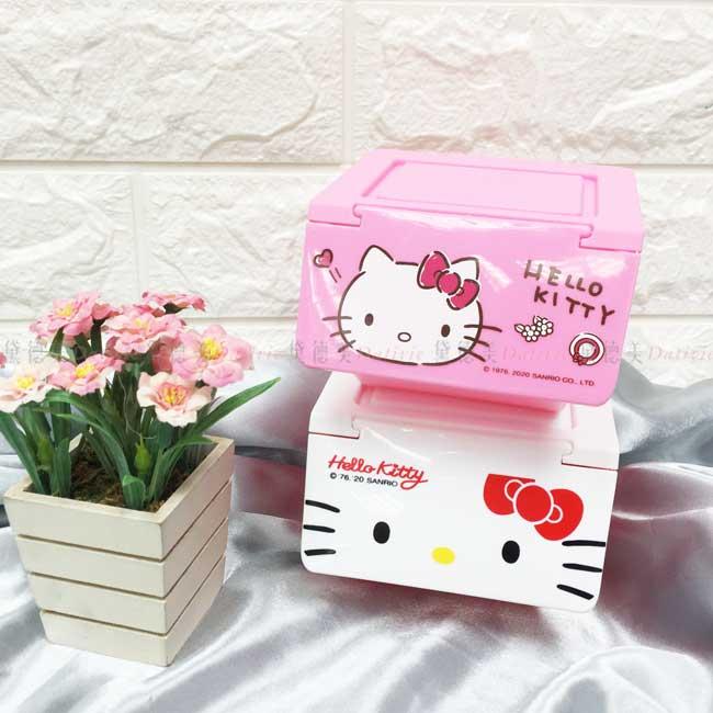 上開造型置物盒 三麗鷗 KITTY 凱蒂貓 收納盒 正版授權