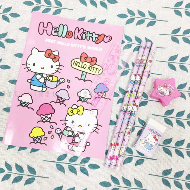 袋裝文具組 三麗鷗 凱蒂貓 KT 上學用品 正版授權