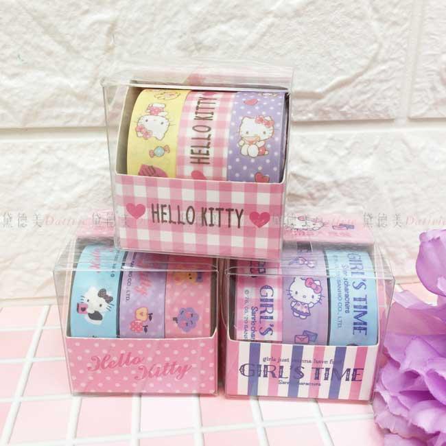 裝飾紙膠帶 三麗鷗 凱蒂貓 KT 盒裝紙膠帶 正版授權