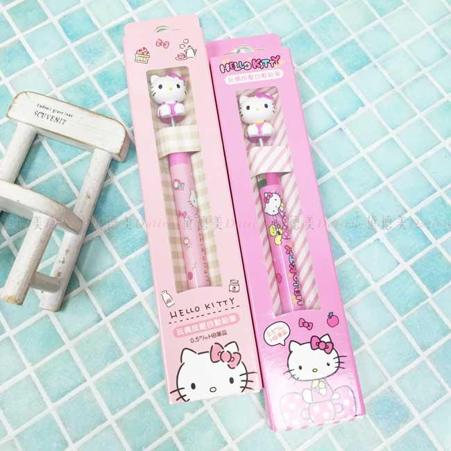 玩偶按壓自動鉛筆 三麗鷗 KITTY 凱蒂貓 造型筆 正版授權