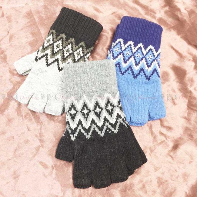 手套 露指 三色 保暖手套