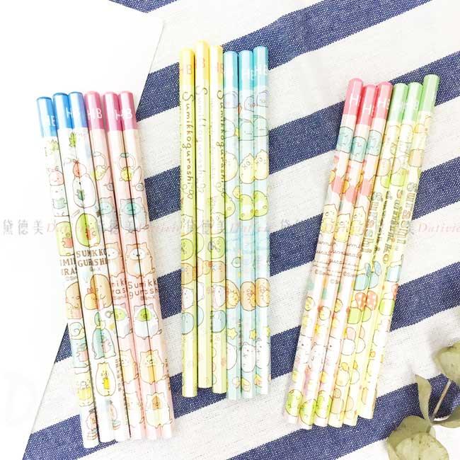 六角木頭鉛筆6入 san-x 角落生物 sumikko gurashi 可削式鉛筆 正版授權